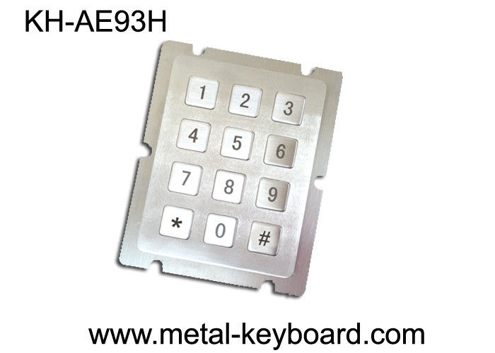 Metal Panel Mount Keypad with 12 Keys For Access Control System