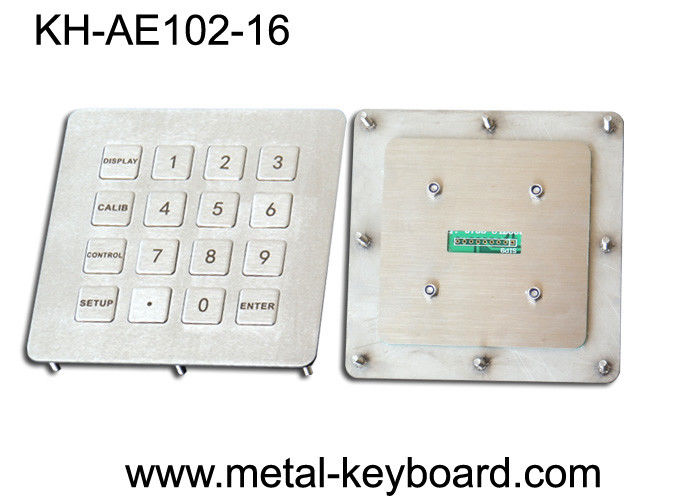 Weatherproof Industrial Metal Keypad in 4 X 4 Matrix 16 Keys with Stainless Steel Material