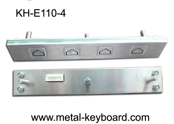 IP65 Rated Metal Kiosk Function Customizable Keypad with 4 short - travel keys