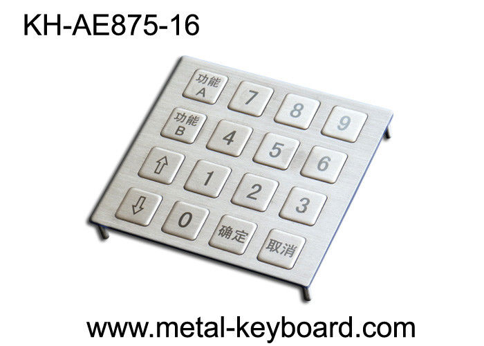 Dot matrix Dynamic vandal proof keypad Metal , Outdoor Kiosk stainless steel keypad