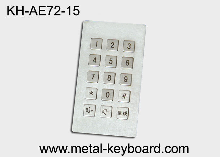 Industrial Input Stainless Steel keyboard metal  , dustproof keyboard long life