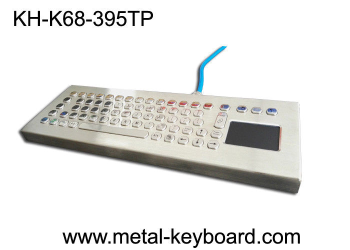 70 Keys Metal Industrial PC Keyboard with touchpad In USB Interface