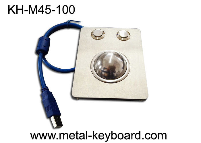 Waterproof Panel Mounted Industrial Trackball Mouse W/38mm Ball Stainless Steel