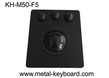 sensibilidad PS/2/interfaz USB OEM/ODM del panel de 50m m alta del Trackball negro del soporte disponible